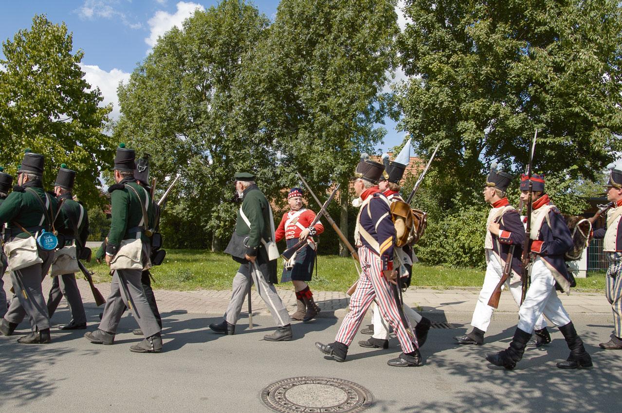 Auf dem Weg zum Reenactment der Gefechte bei Lauenburg