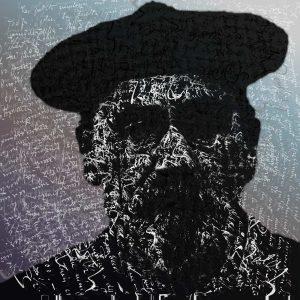 Grafik Porträt von Emile Zola