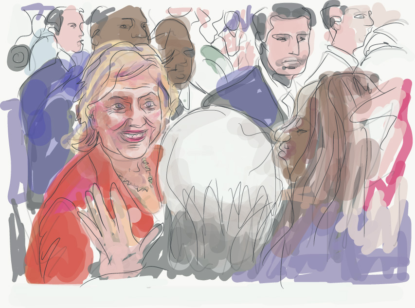 Illustration: Hillarys Wahlkampf