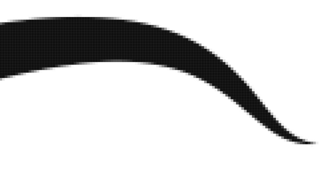 skalierte Pixelgrafik mit Unschärfe und Treppenmuster