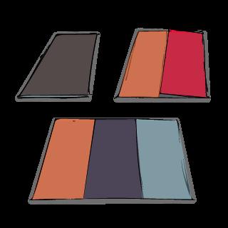 Layout-Abfolge Einzelseiten beim Sechsseitenflyer